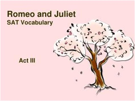 Romeo and juliet presentation homework